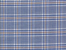 Dessin: dark blue and brown checks