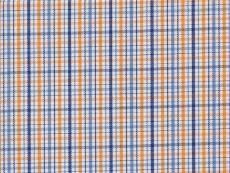 2Ply: orange-blue checks