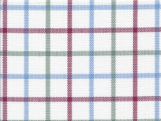 Oxford (2Ply) checks red, blue, green