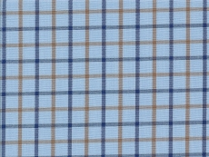 2Ply: blue and brown checks