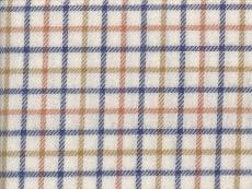 Viyella: blue brown checks