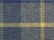 Flanell: Karo groß, blau gelb grau